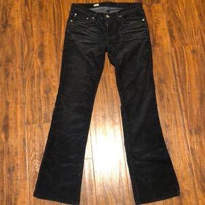 Black corduroy ag jeans